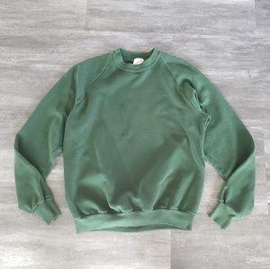 Hunter Green Jerzees Oversized Sweater Long Sleeve